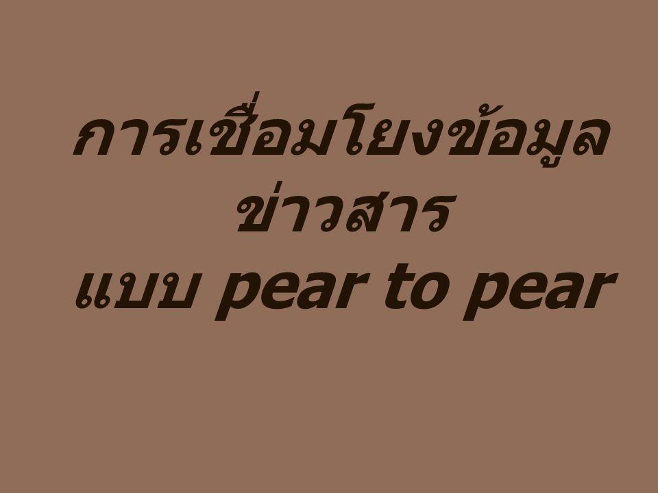 การเชื่อมโยงข้อมูลข่าวสาร แบบ pear to pear