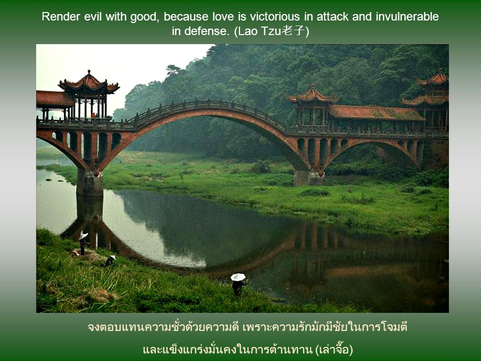 จงตอบแทนความชั่วด้วยความดี เพราะความรักมักมีชัยในการโจมตี