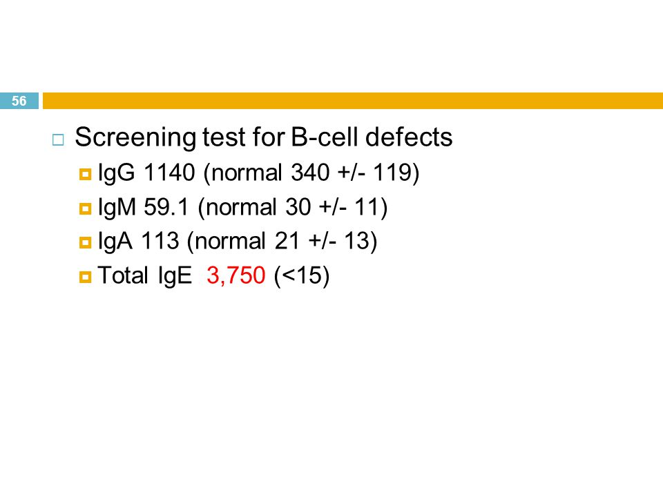Screening test for B-cell defects