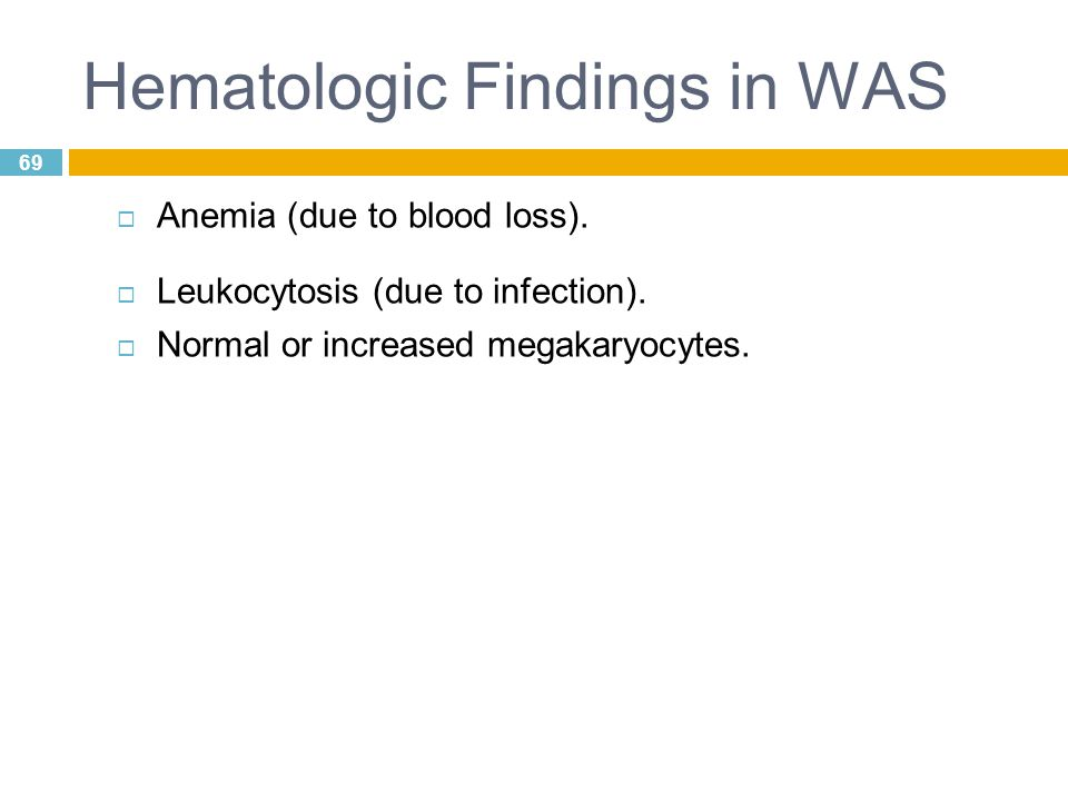 Hematologic Findings in WAS