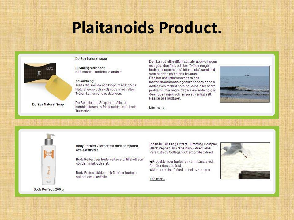 Plaitanoids Product.