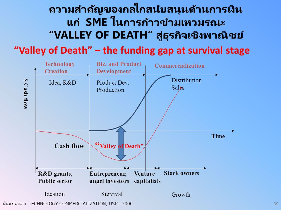 Valley of Death – the funding gap at survival stage