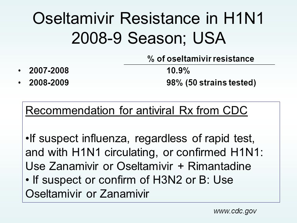 Oseltamivir Resistance in H1N1 2008-9 Season; USA