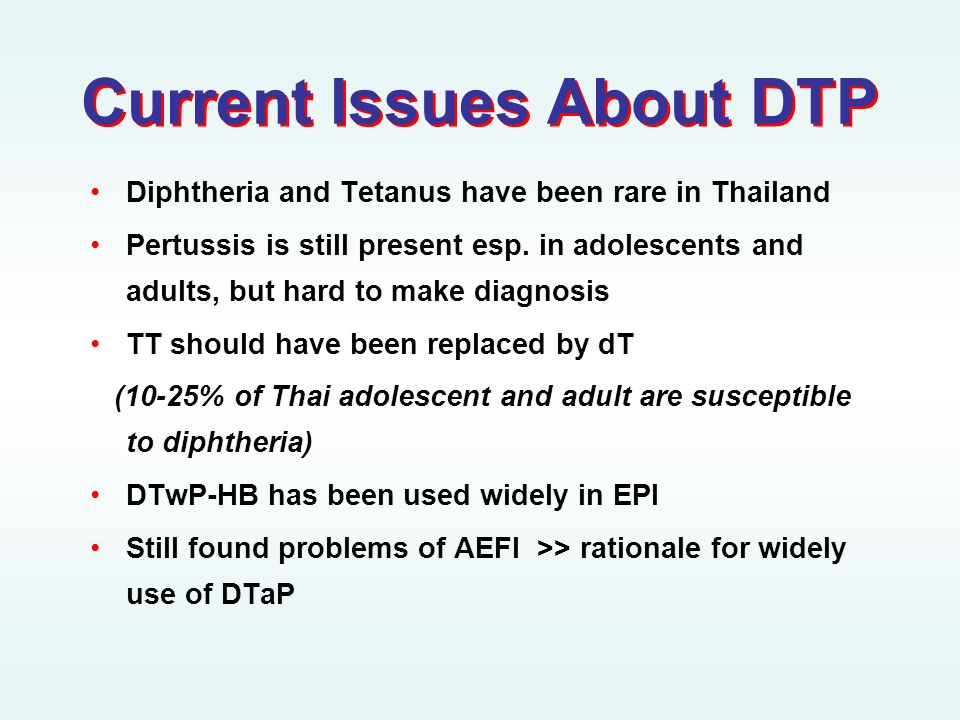 Current Issues About DTP