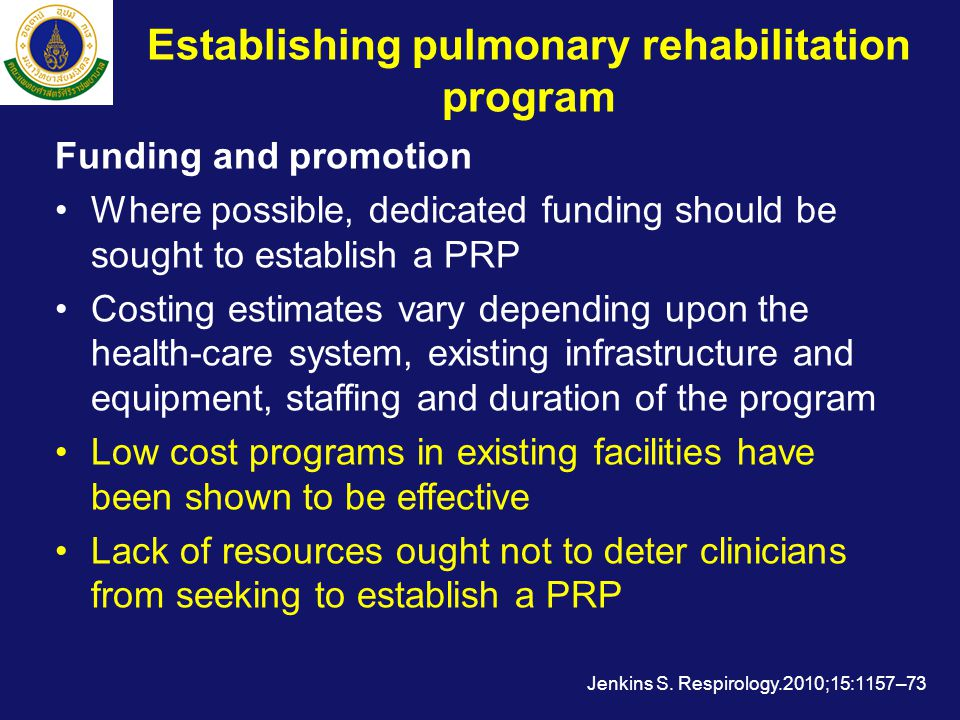 Establishing pulmonary rehabilitation program