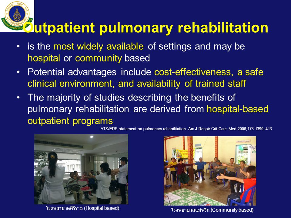 Outpatient pulmonary rehabilitation