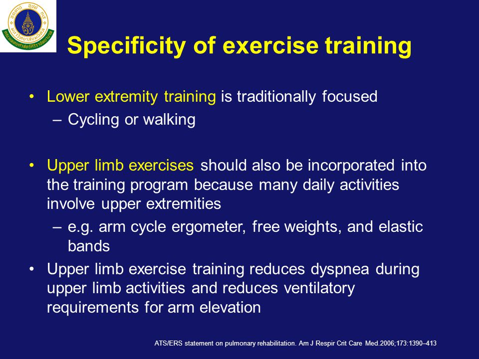 Specificity of exercise training