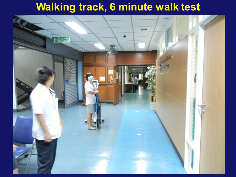 Walking track, 6 minute walk test