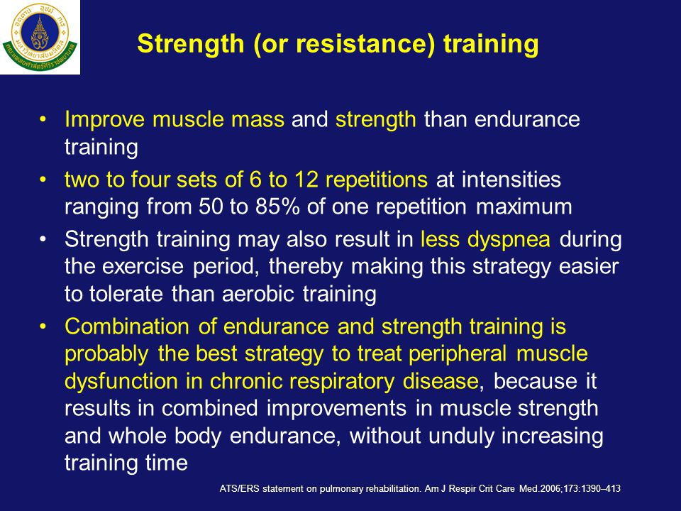 Strength (or resistance) training
