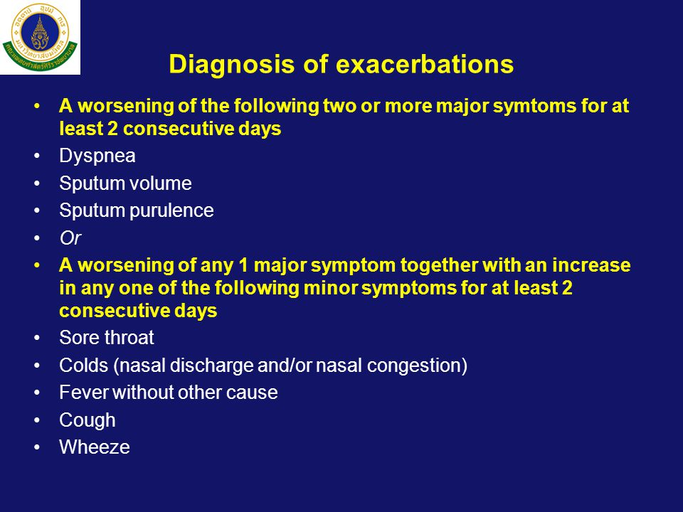 Diagnosis of exacerbations