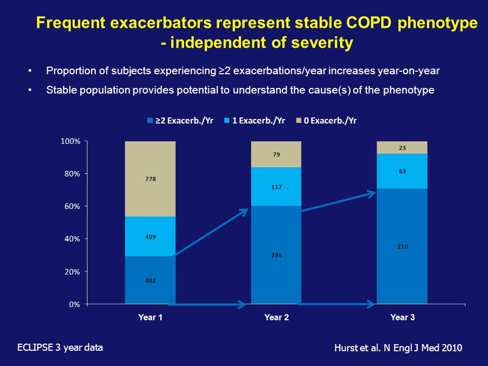 Frequent exacerbators represent stable COPD phenotype - independent of severity