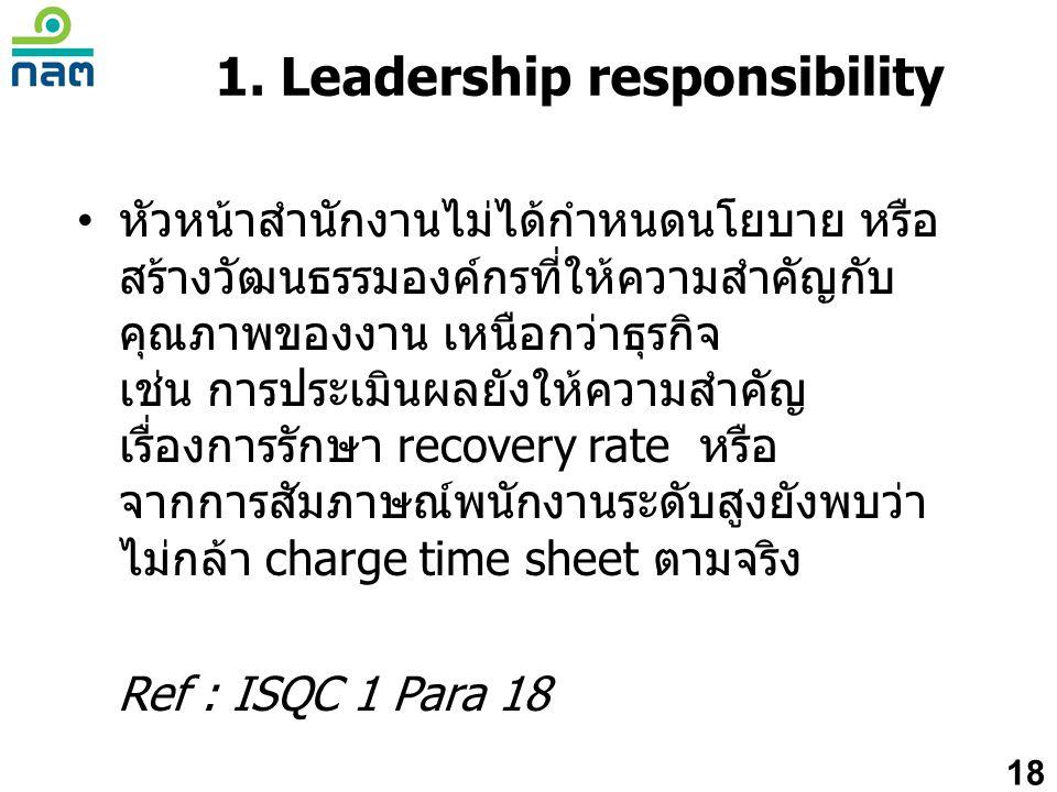 1. Leadership responsibility