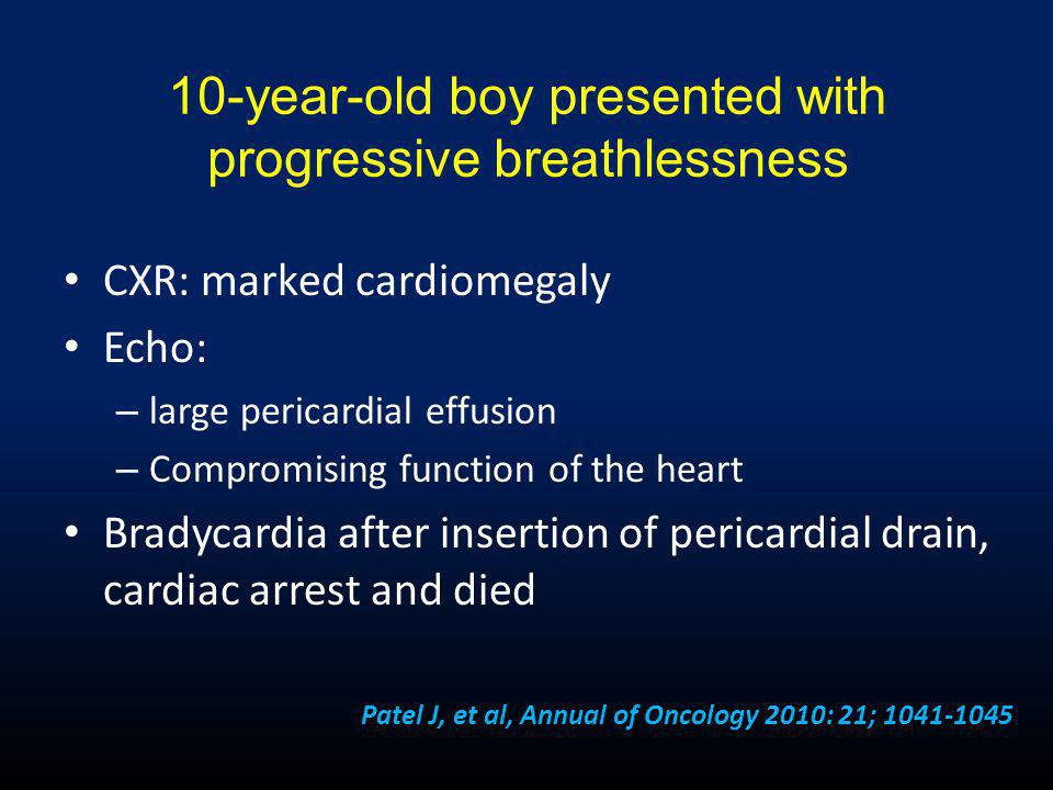 10-year-old boy presented with progressive breathlessness
