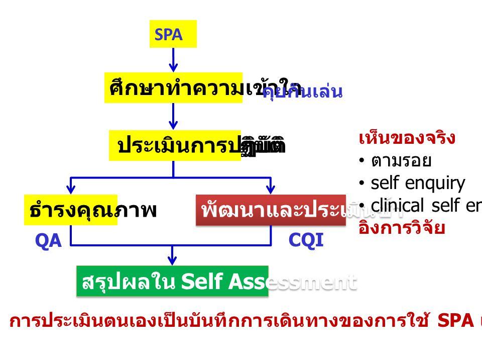 สรุปผลใน Self Assessment