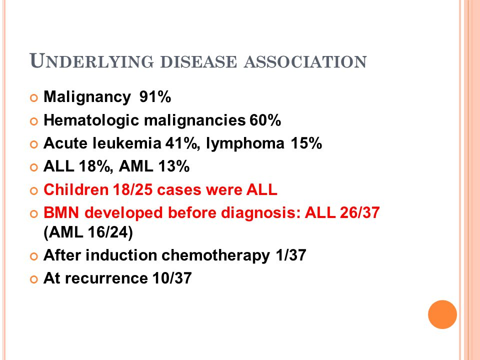 Underlying disease association