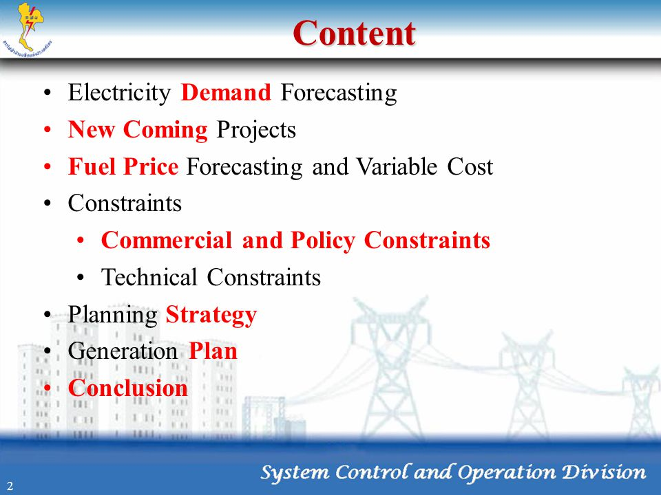 Content Electricity Demand Forecasting New Coming Projects