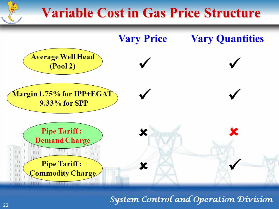 Variable Cost in Gas Price Structure