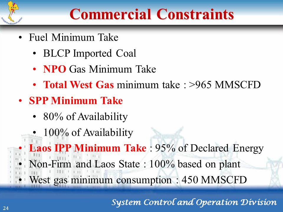 Commercial Constraints