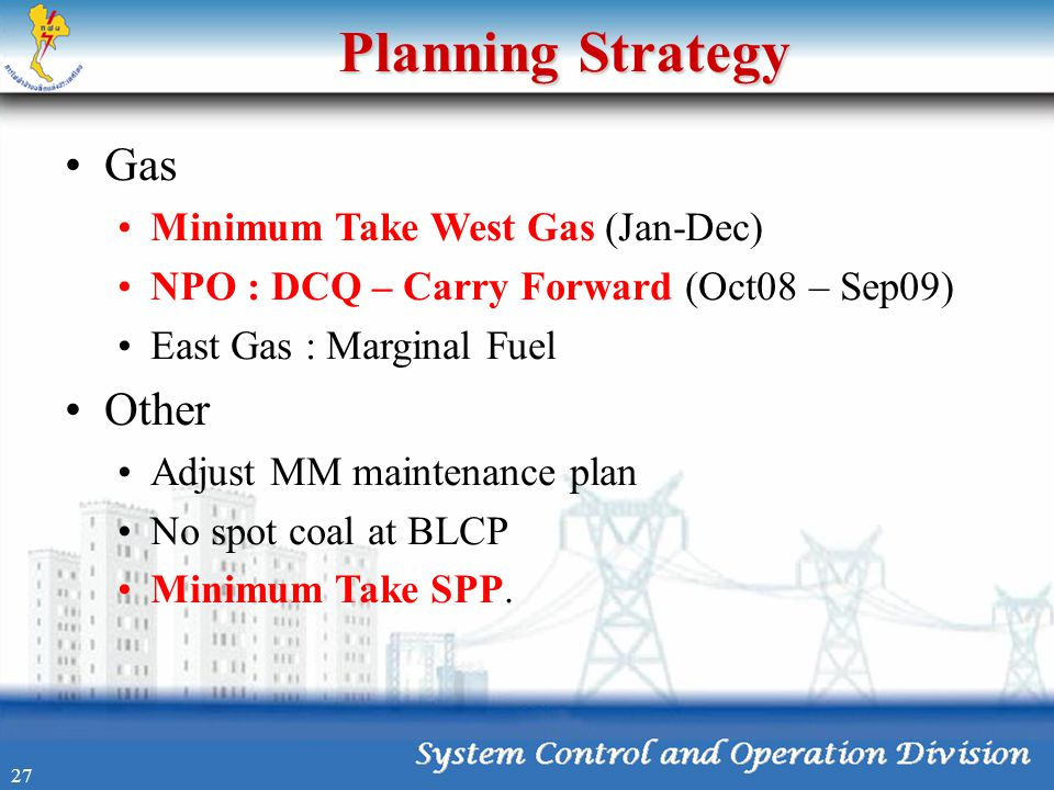 Planning Strategy Gas Other Minimum Take West Gas (Jan-Dec)