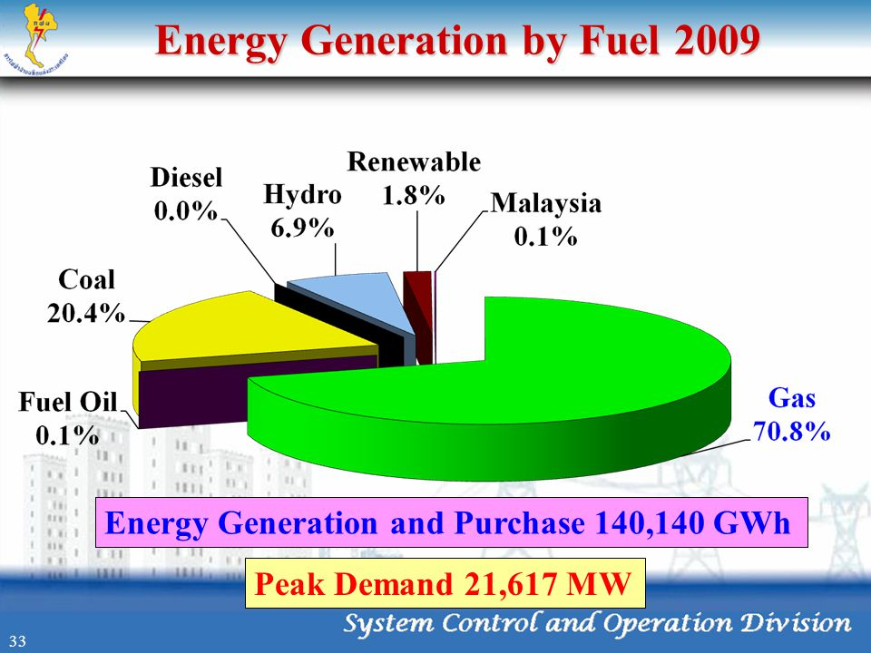 Energy Generation by Fuel 2009