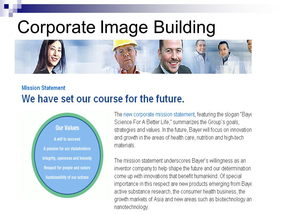 Corporate Image Building