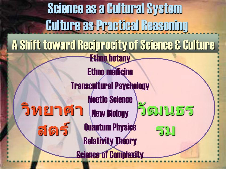 วิทยาศาสตร์ วัฒนธรรม Science as a Cultural System
