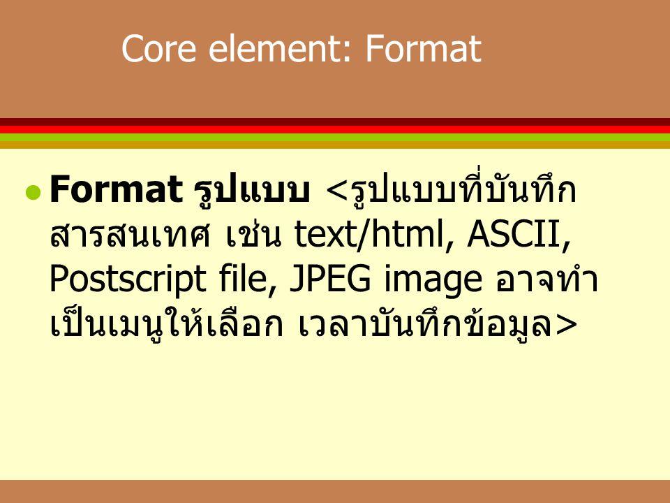 Core element: Format