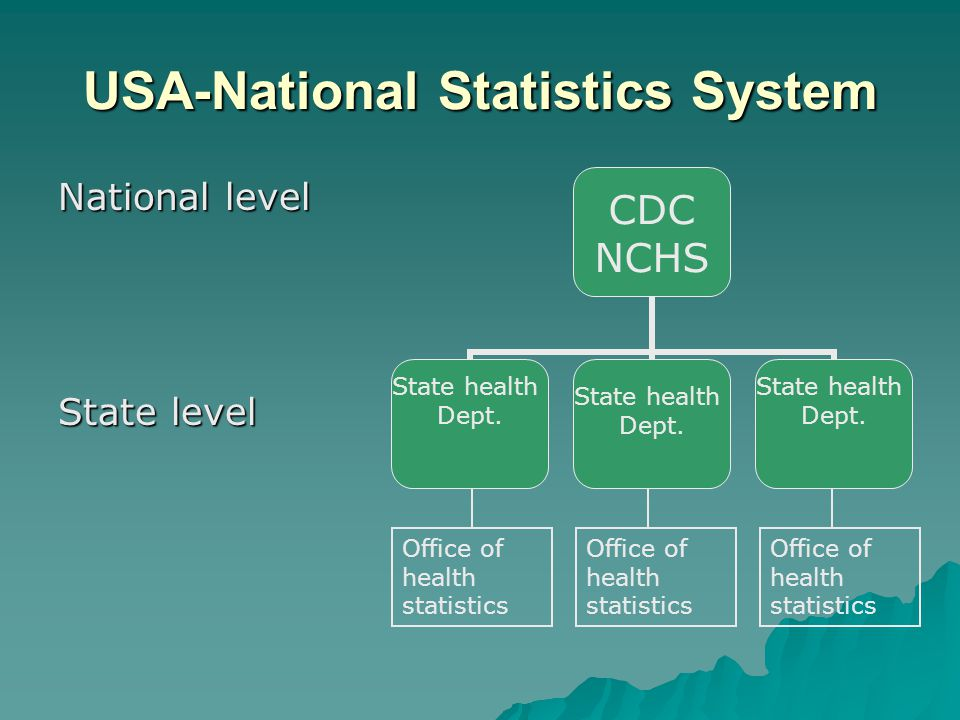 USA-National Statistics System