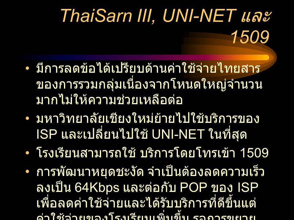 ThaiSarn III, UNI-NET และ 1509