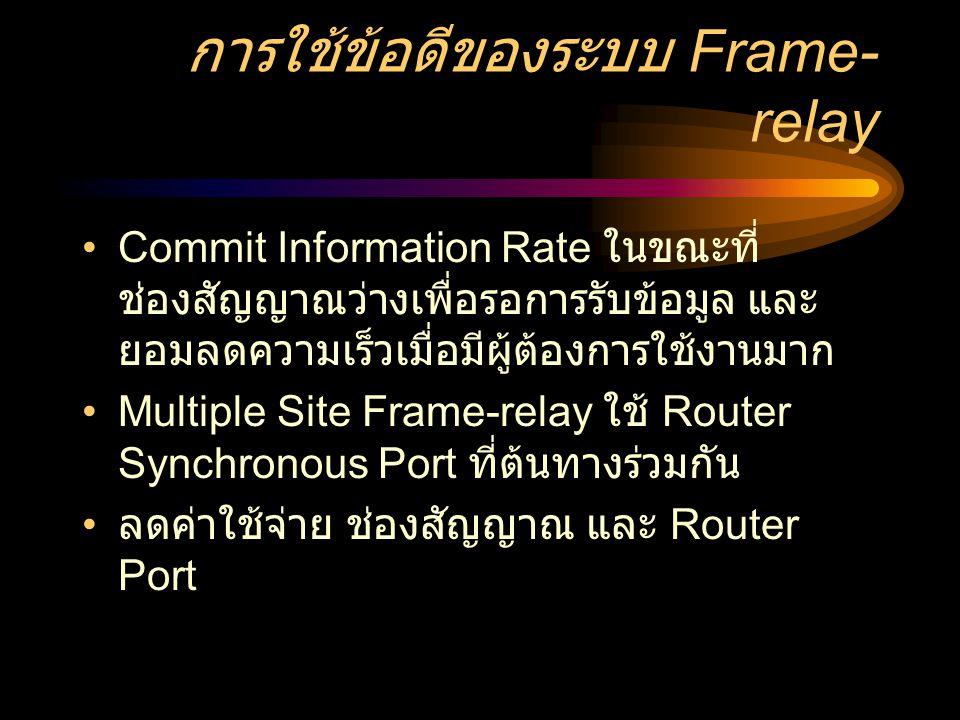 การใช้ข้อดีของระบบ Frame-relay