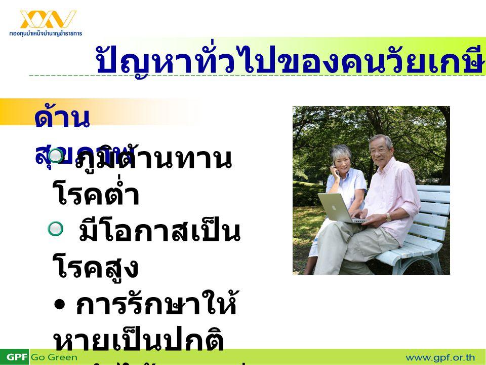 ปัญหาทั่วไปของคนวัยเกษียณ
