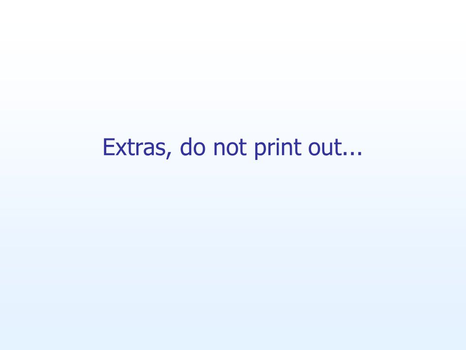 Extras, do not print out...