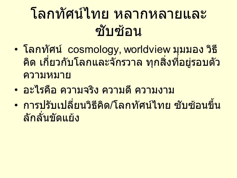 โลกทัศน์ไทย หลากหลายและซับซ้อน