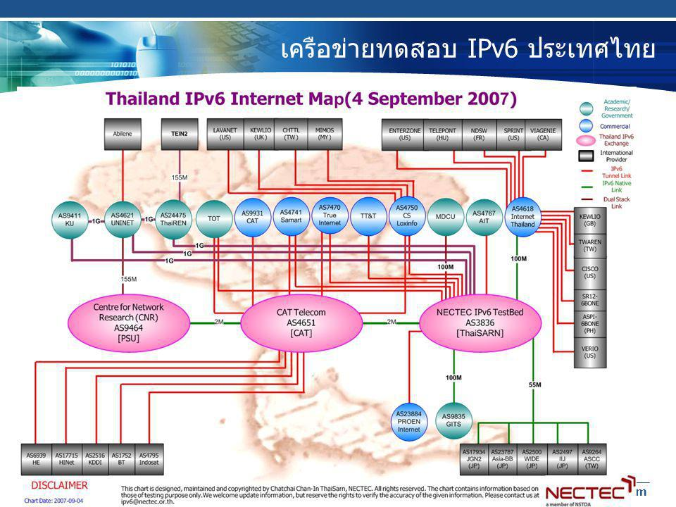 เครือข่ายทดสอบ IPv6 ประเทศไทย