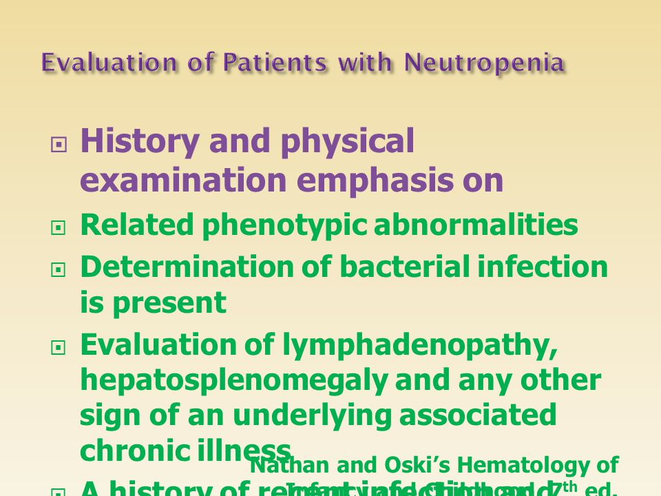 Evaluation of Patients with Neutropenia