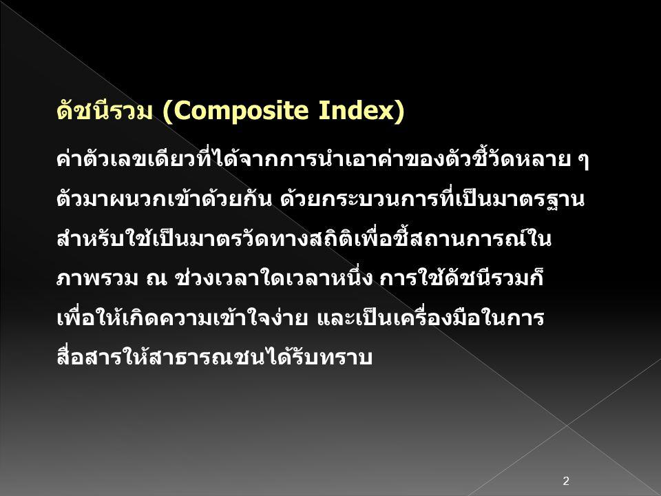 ดัชนีรวม (Composite Index)