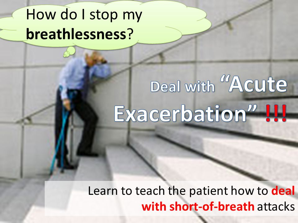 Deal with Acute Exacerbation !!! How do I stop my breathlessness