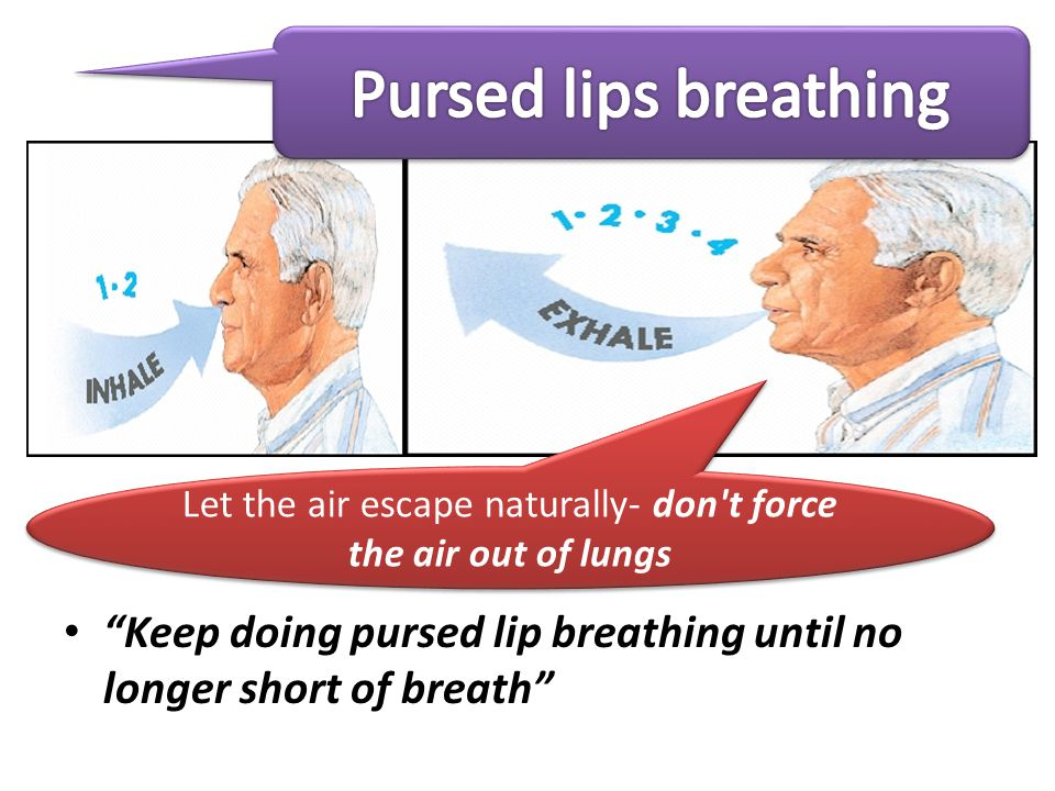 Let the air escape naturally- don t force the air out of lungs
