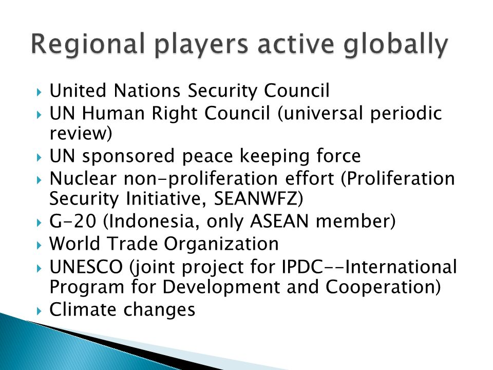 Regional players active globally