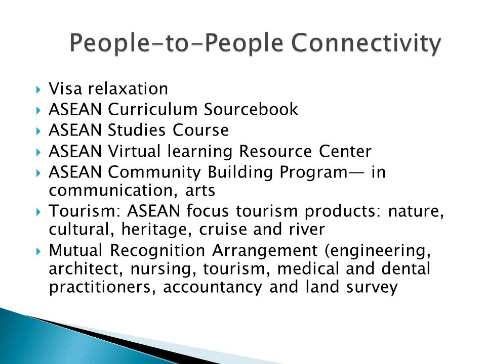 People-to-People Connectivity