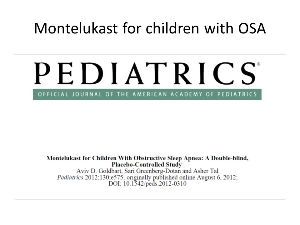 Montelukast for children with OSA