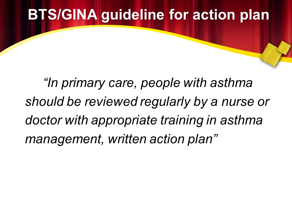 BTS/GINA guideline for action plan