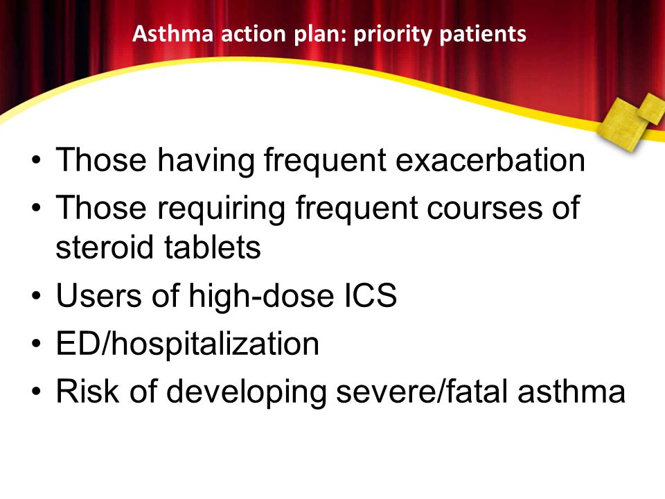 Asthma action plan: priority patients