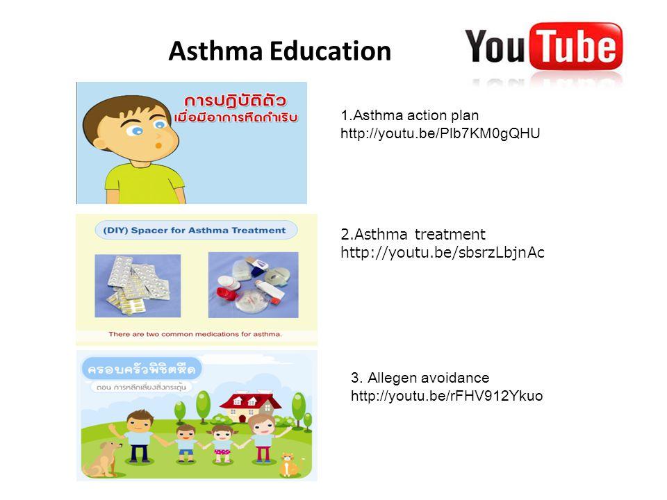 Asthma Education www.tuasthmaclub.com 1.Asthma action plan