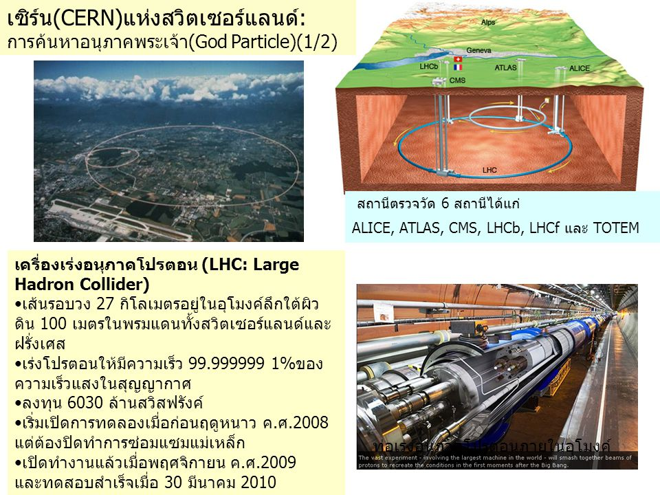 เซิร์น(CERN)แห่งสวิตเซอร์แลนด์: