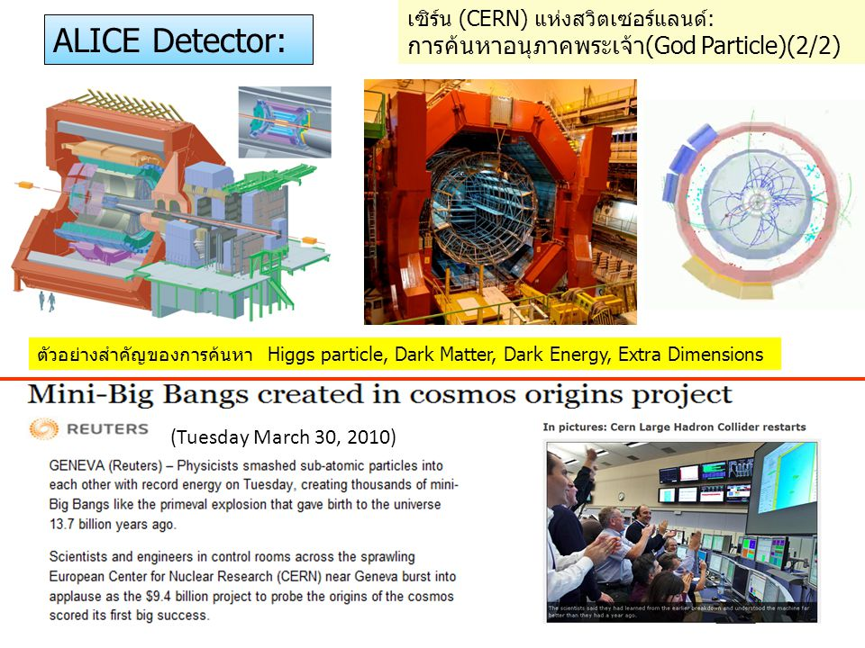 ALICE Detector: การค้นหาอนุภาคพระเจ้า(God Particle)(2/2)