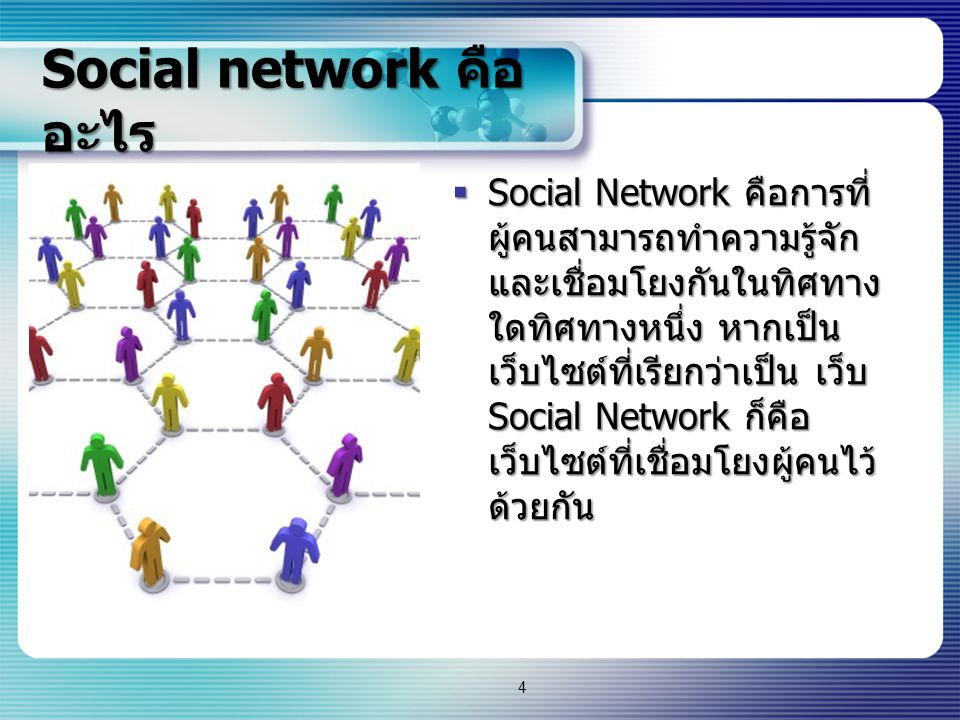 Social network คืออะไร