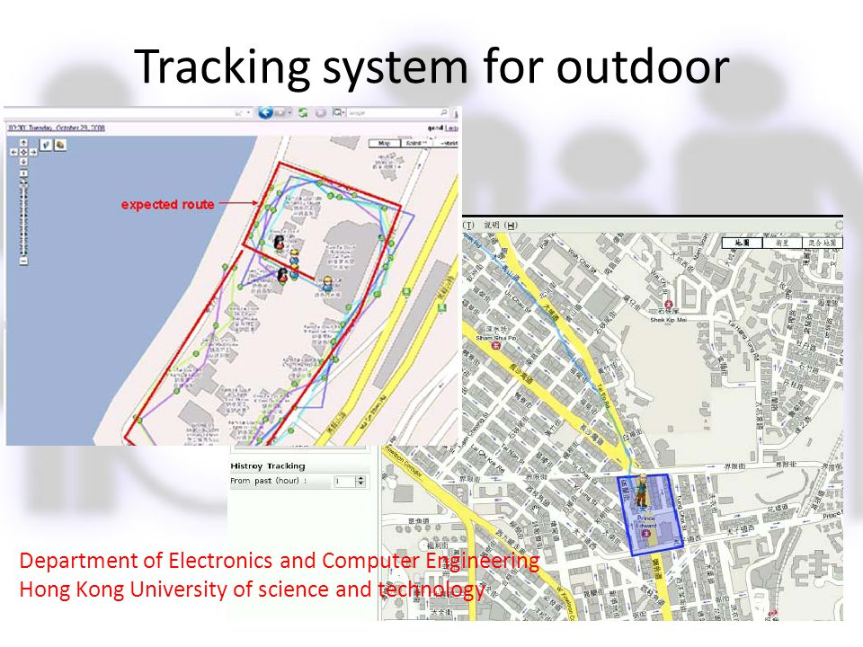 Tracking system for outdoor