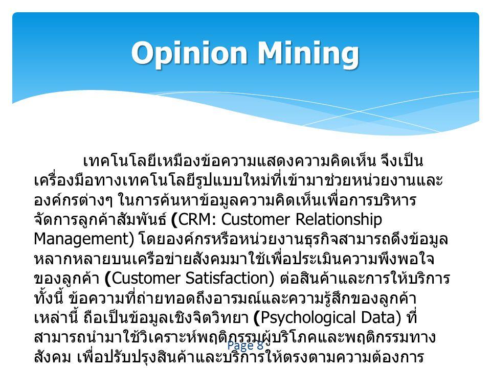 Opinion Mining
