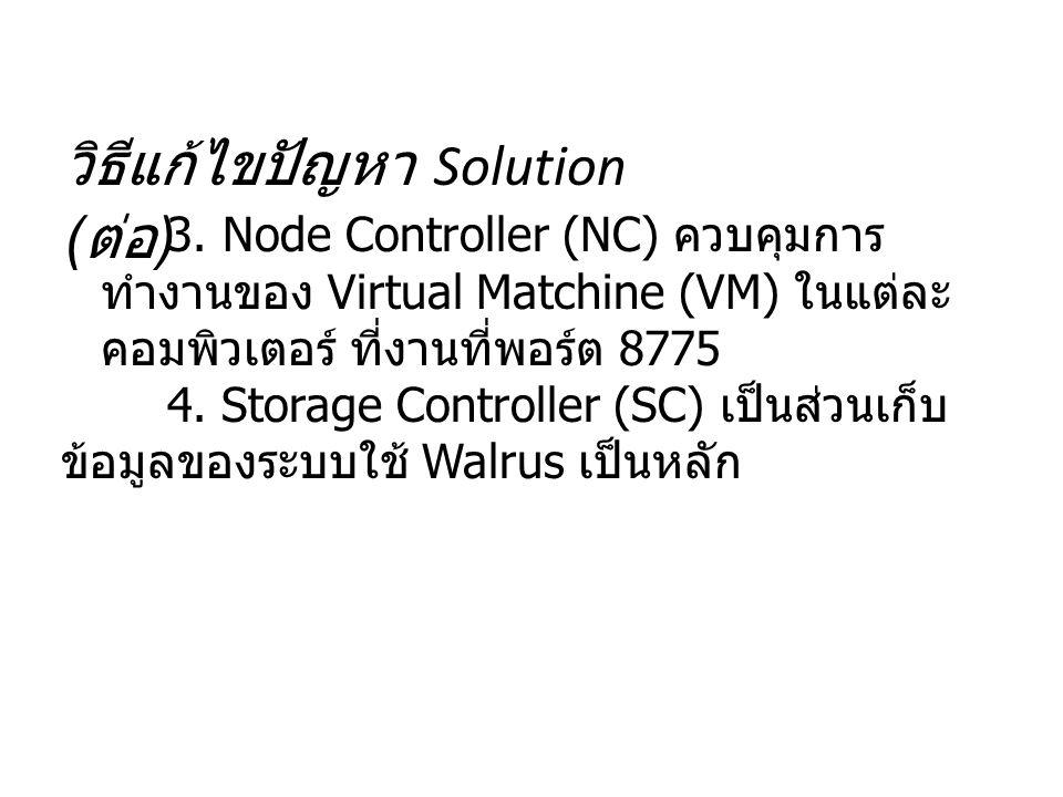 วิธีแก้ไขปัญหา Solution (ต่อ)